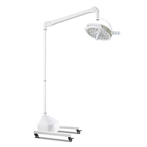 DX.JZ Chirurgisches Licht 36 3W LED Medizinisch Licht Chirurgisch Untersuchungsleuchte mit mobilem Ständer (Bodenständertyp)