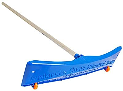 Avalanche! Original 500 Snow Removal System: Snow Roof Rake with 1.5 Inch Wheels and Slide Material for Roof Snow Removal for Standard Asphalt Shingled Roofs