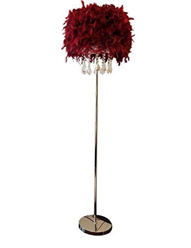 YUQIYU Lámpara de pie, de hierro cristal Adornos modernos Simplicidad de pie luminarias for sala de estar dormitorio bulbo, interruptor de control remoto (Color : Remote Control Switch)