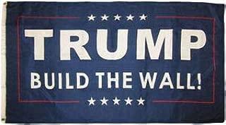 LuxMart 3x5 Trump Build The Wall! Blue 3'x5' Rough Tex 100D Oxford Polyester Flag