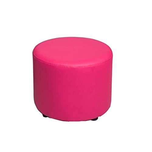 HSWYJJPFB Cambio De Calzado Banco Escabel Sala De Estar Independiente Sofá PU Té Mesa Baja del Hogar Cama Fin De Heces Multipropósito Múltiples Colores Regalo de Edad Avanzada (Color : B)