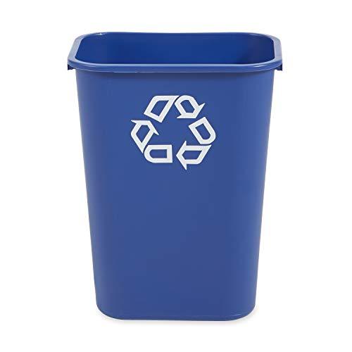 Rubbermaid Commercial Products FG295773BLUE Papelera Rectangular de Reciclaje, Azul