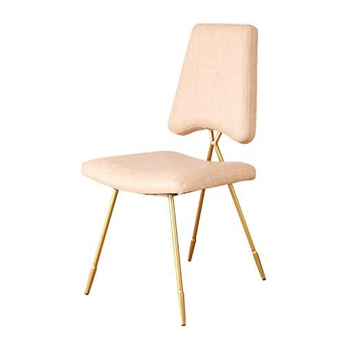 Sillas de equipo diario para sillón moderno silla de comedor de hierro forjado silla hogar cojín de vino taburete taburete taburete para adultos silla con respaldo de cuero creativo adecuado para r