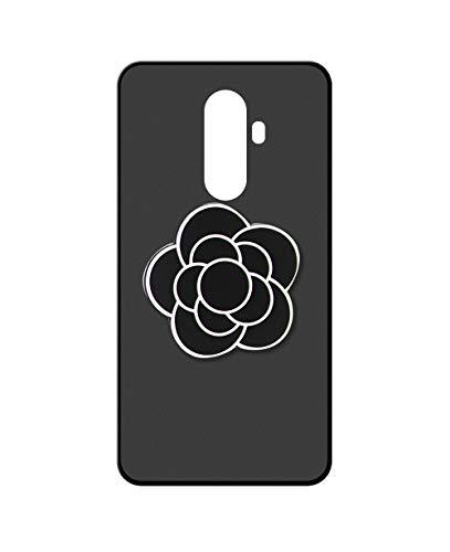 Sunrive Kompatibel mit DOOGEE BL12000 Hülle Silikon, Handyhülle matt Schutzhülle Etui 3D Hülle Backcover (A1 Schwarze Blume) MEHRWEG+Gratis Universal Eingabestift
