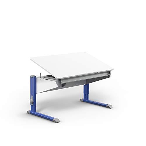 moll Bandit Füße Blau ohne Erweiterung Kinderschreibtisch, Holz, 32.1 kg