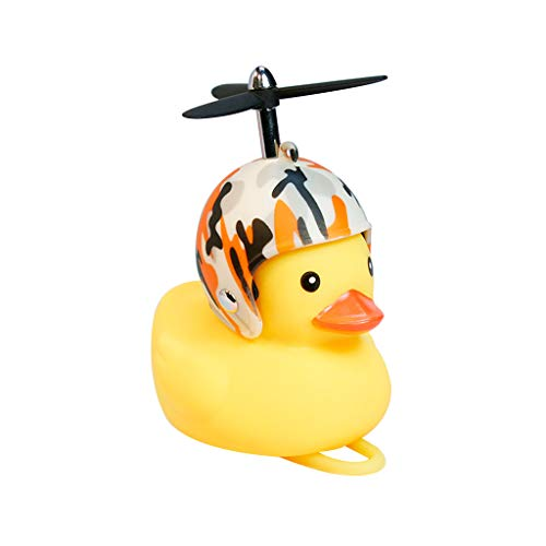 Haorw Fahrradhupe Gelbe Ente Mit Helm Und Licht - Fahrradklingel Fahrradzubehör Für Rennrad,MTB - 16 Arten