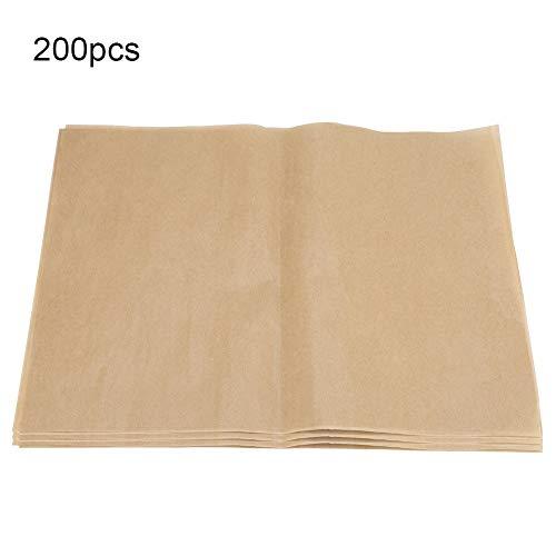 Aeloa bakplaten-200 Stks BBQ Papier Bakplaten Non-stick Vierkante Barbecue Folie Papier voor Thuis, Party Grill