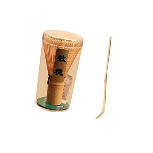 2 Piezas De Bambu Whisk Chasen Cepillo Herramienta Para Matcha Polvo De Te Verde Con Cucharada Conjunto Perfecto Combo