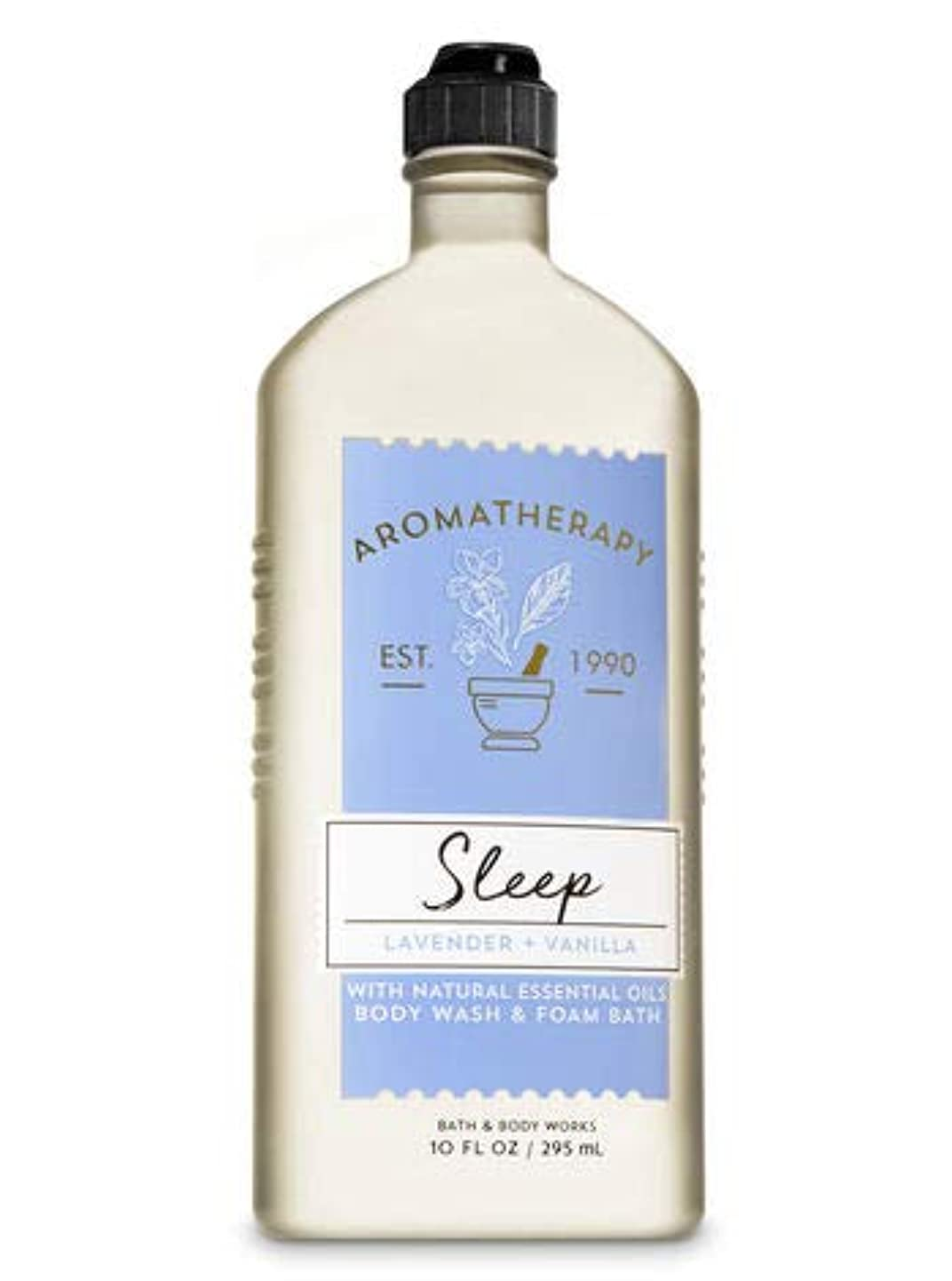 知覚道歯痛【Bath&Body Works/バス&ボディワークス】 ボディウォッシュ&フォームバス アロマセラピー スリープ ラベンダーバニラ Body Wash & Foam Bath Aromatherapy Sleep Lavender Vanilla 10 fl oz / 295 mL [並行輸入品]