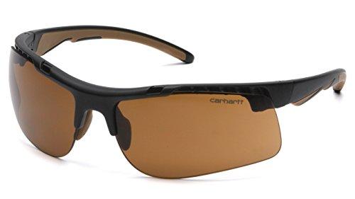 Carhartt Rockwood Safety Glasses, Sandstone Bronze Anti-Fog, Frustration-Free Packaging