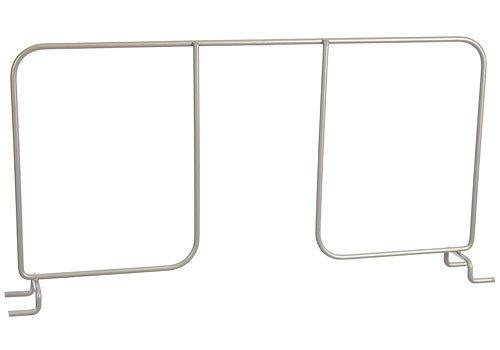 Organized Living freedomRail Shelf Divider for freedomRail Ventilated Shelves, 16-inch - Nickel