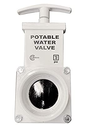 """Valterra T1001APW Fresh Water Gate Valve, Drain Valve 1-1/2"""" Valve Spigot x Slip, White by Valterra"""
