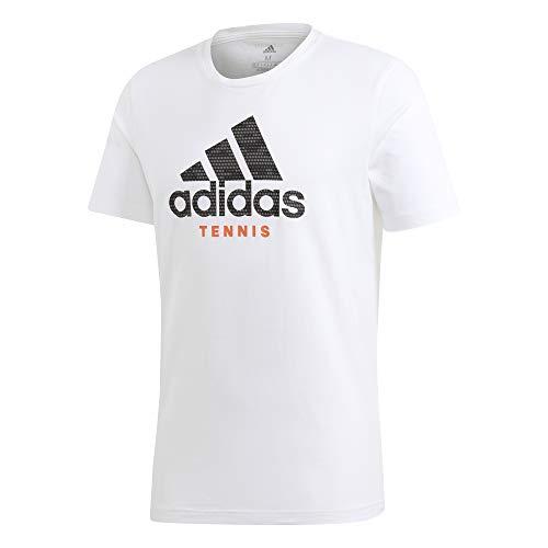 adidas, Maglietta da Uomo con Logo Category, Uomo, T-Shirt, FM4416, Bianco, M
