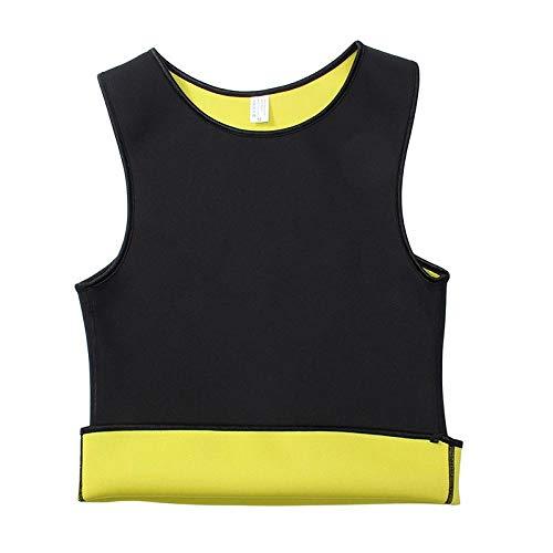 Hombres s Sweat Vest Body Shaper ShirtThermo Slimming Sauna Suit Pérdida de peso Black Shapewear Ultra Neoprene Waist Trainer-S