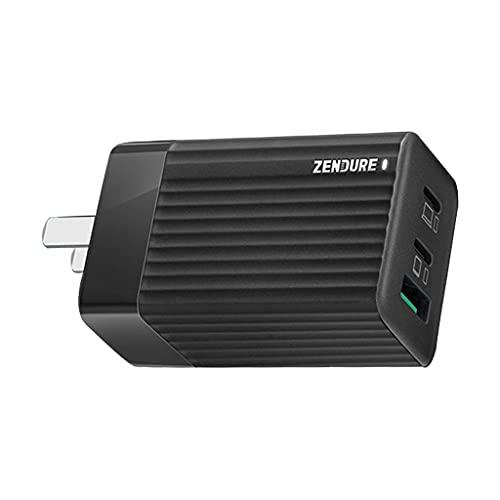 KLOVA Adaptador de Corriente, Enchufe Estadounidense 65W Type-C Adaptador de alimentación GAN USB-C Cargador de Pared rápido con 3 Puertos USB