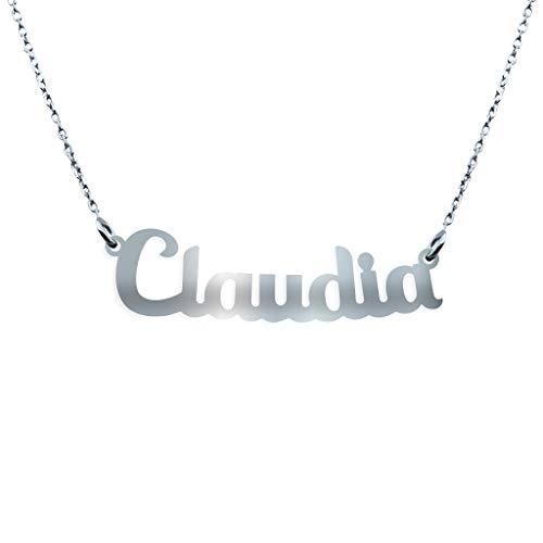 Collana con Nome in Argento (Claudia)