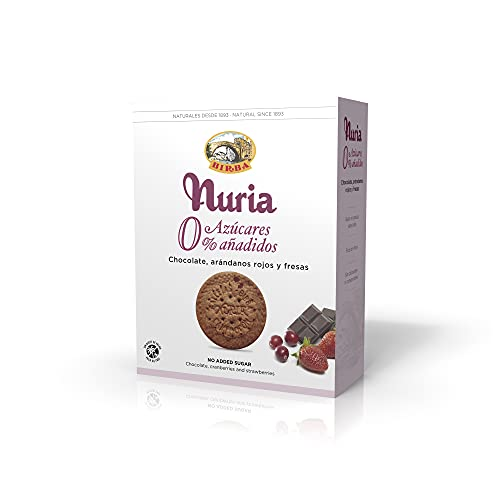 Birba Galletas Nuria 0% Azúcares Con Fresas, Arándanos Y Chocolate 140 g