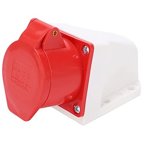 Enchufe industrial resistente a la intemperie 220‑380V / 240‑415V 5Pin 16A IP44 Enchufe de montaje en pared a prueba de polvo a prueba de explosiones