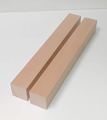 2 Tischfüße Kanthölzer Drechselholz Buche massiv. 6x6cm stark. Hobelware.100-1200mm lang. (60x60x100mm lang.)