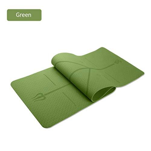1830 * 610 mm TPE yogamat Pilates gymnastiek klempositie voor de beginner naar de omgeving van het tapijt,een afmeting,groen