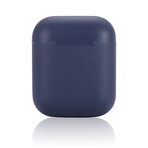 AirPods Case Airpods 2 Case,Teyomi Protective Silicone Cover Skin with Sport Strap for Apple Airpods Charging Case[Front Led Not Visible](Airpods Case-Dark Blue)