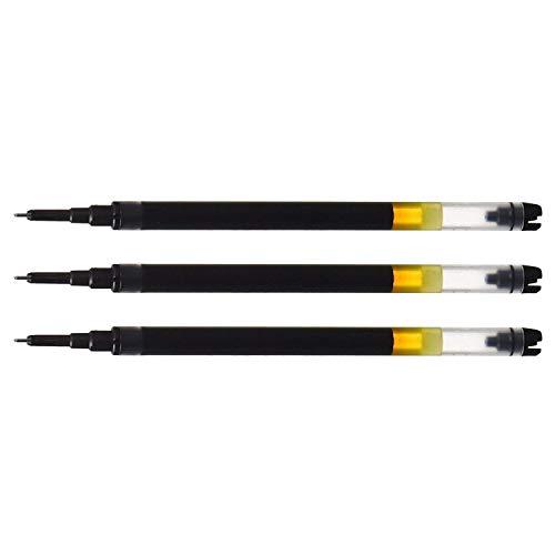 PILOT Lot de 3 Recharges pour stylos rollers V5 RT noir