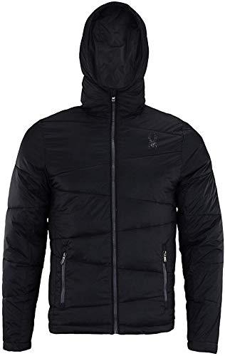 Spyder Men's Nexus Insulated Puffer Jacket (Black/Red, Medium)