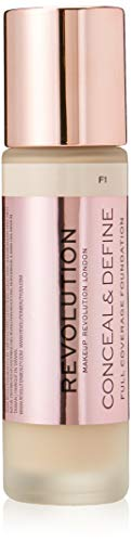 Makeup Revolution - Fondotinta Conceal & Define Foundation F1