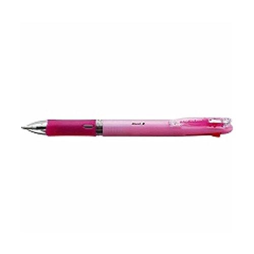 油性ボールペン クリップ-オン スリム 4C [黒/赤/青/緑] 0.7mm パステルピンク B4A5-WP