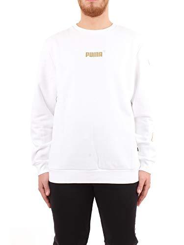 PUMA 581850 02-m Maglione, Blanco, M Uomo