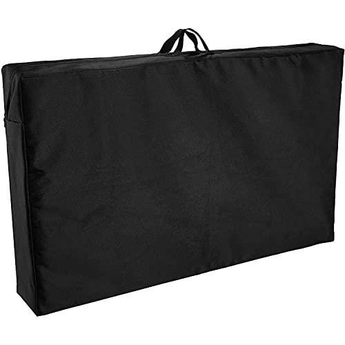 GUOXIANG Bolsa de almacenamiento para cojines de jardín, 97 x 59 x 16 cm, funda protectora, tejido Oxford 600D, impermeable, resistente a los rayos UV, bolsa de transporte para cojines de jardín