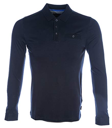 Photo of Ted Baker Skelter LS Polo Shirt Navy XX-Large (TED Size 6)