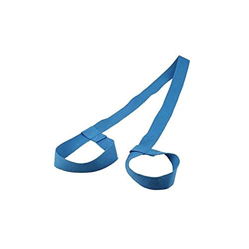 Heigmz yjd - Correa de yoga ajustable de algodón y duradero, correa elástica para gimnasio, cintura y piernas, correas de transporte para el hombro (color azul cielo)