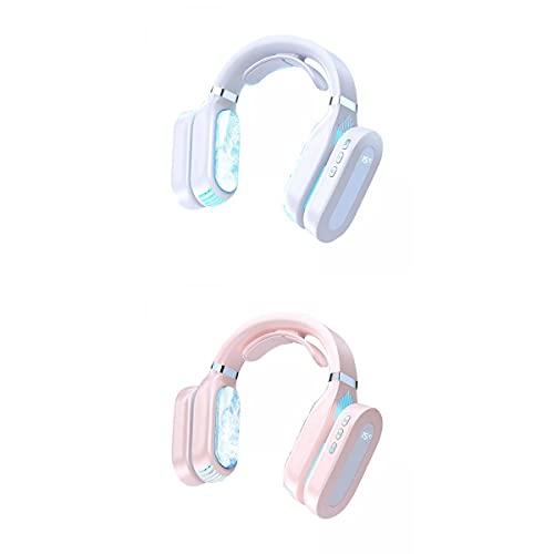 FLAMEER Ventilador Colgante de Cuello 2 PCS 2 en 1. Viento Fuerte Refrigeración Sin Cuchillas Y Ventilador Cálido