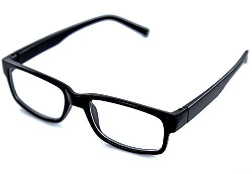Nerd-Brille schwarz ohne Sehstärke Slim Fit für Herren und Damen Panto-Brille mit extra schmalem Rahmen klare Gläser Geek-Brille