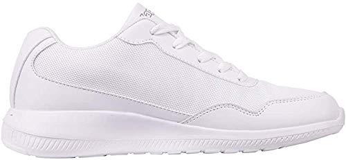 Kappa FOLLOW OC | Freizeit-Sneakers für Frauen und Männer | super-leicht, modisch und zeitlos | angenehmes Tragegefühl | atmungsaktiv | Weiß (White/L´grey 1016), Größe 41 EU