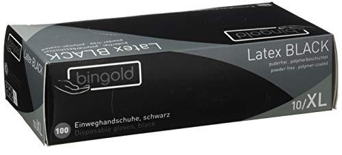 Einmalhandschuhe Latex BLACK puderfrei, Größe XL, 100-er Pack