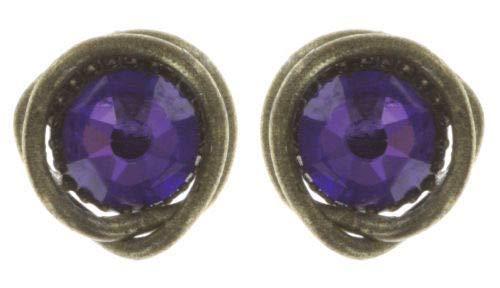 Konplott Ohrstecker Black Jack - blau lila antik Ø1cm