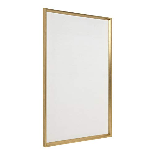 Kate and Laurel Calter Framed Linen Fabric Pinboard, 25.5 x 41.5, Gold