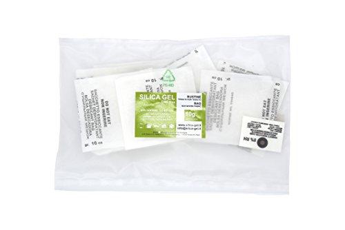 Disidry Silicagel - 20 bustine essiccanti disidratanti 10 grammi silica gel (desiccant, gel di silice, gelo di silice), assorbi umidità rinnovabile.