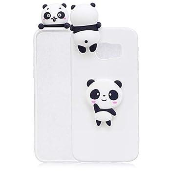 Samsung S6 Edge Case Cute Cartoon Anime for Samsung Galaxy S6 Edge Silicone Case Pop Push Fashion Cases - Panda White