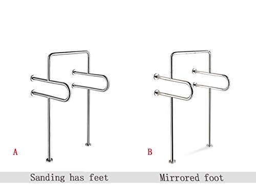 WYJW Badkamer Veiligheid Grab Bar, Badkamer Toilet, Men's Urinal Handrail, Uitgeschakeld, Ouderen, Barrière vrije SU304 RVS Handrail (tekening/spiegel) (Kleur : A)