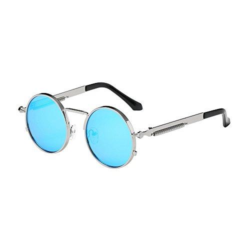 YWLINK Damen Herren Runde Sonnenbrillen Integrierte UV-GläSer Unisex Klassisch Strand Urlaub Retro Brillen