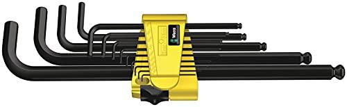 Wera 05021728001 Hex-Plus Hex Key Set 950 PKL 13 SZ N High Torque with Ball-end, Imperial BlackLaser, 0.05-inch-3 8-inch, 13-Piece