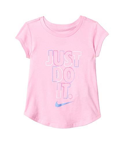 Nike Kids Baby Girl's Short Sleeve JDI Graphic T-Shirt (Toddler) Pink 2T Toddler