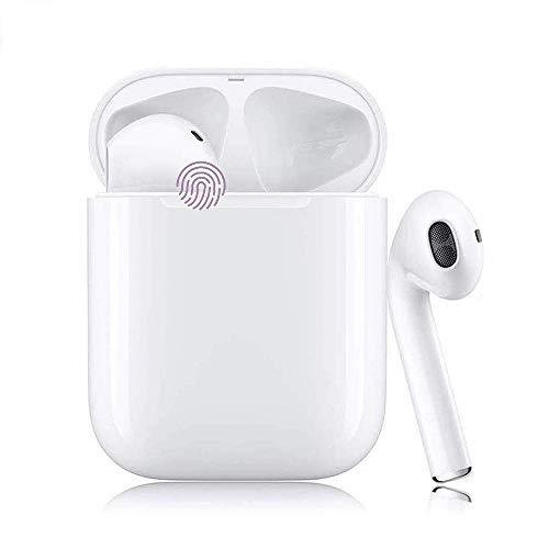 Bluetooth 5.0 TWS i12 Auriculares Sonido Estéreo 3D Control Táctil IPX7 Impermeables Pop-Up Pairing Automático Audífonos Inalámbricos para Juegos Deportes y Trabajo Viaje