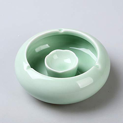 GYHJG Posacenere in Ceramica Creativo Casa Soggiorno personalità Tendenza Ufficio con Coperchio Posacenere Antivento 9X3Cm