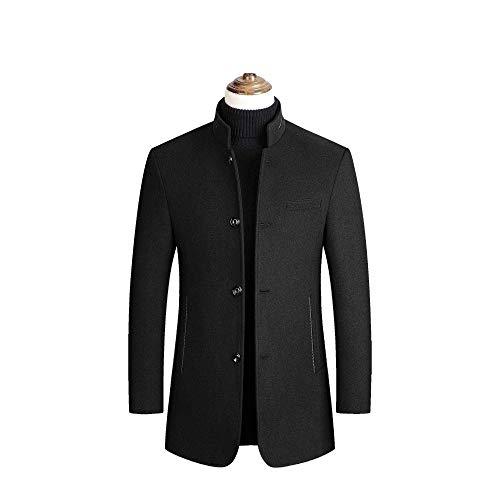 CRWOOL Homme l'hiver Manteau Hiver Long Trench Coat Slim Outerwear pour Les Voyages de ski et de Marche en Automne et en Hiver M-3XL (crct012),Black,3XL