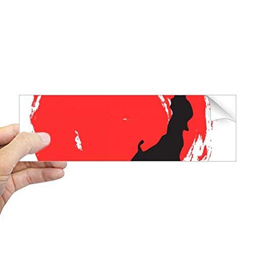 DIYthinker Zwart Kaart Abstract Japan Rechthoek Bumper Sticker Notebook Window Decal
