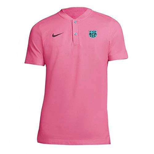 Nike 2020-2021 - Maglietta da calcio con polo autentico Barcellona (rosa), Uomo, rosa, XL